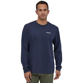 Patagonia P-6 Logo Camiseta Responsable Manga Larga Hombre, classic navy